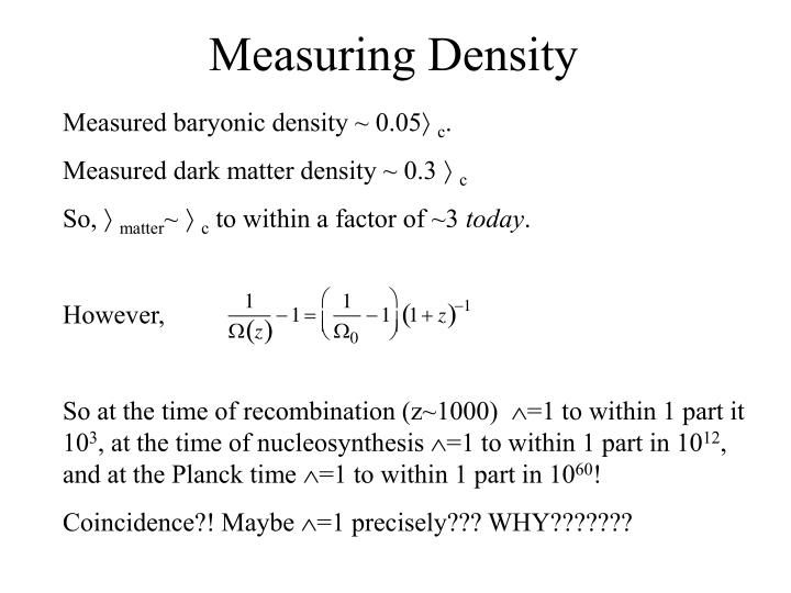 Measuring Density