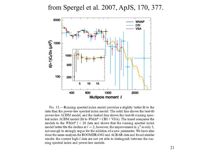 from Spergel et al. 2007, ApJS, 170, 377.