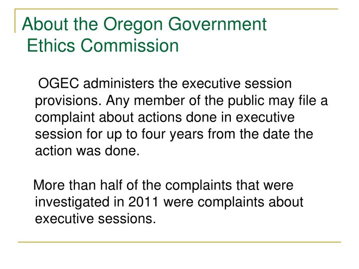 About the Oregon Government