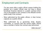 employment and contracts