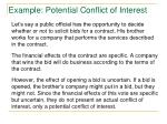example potential conflict of interest