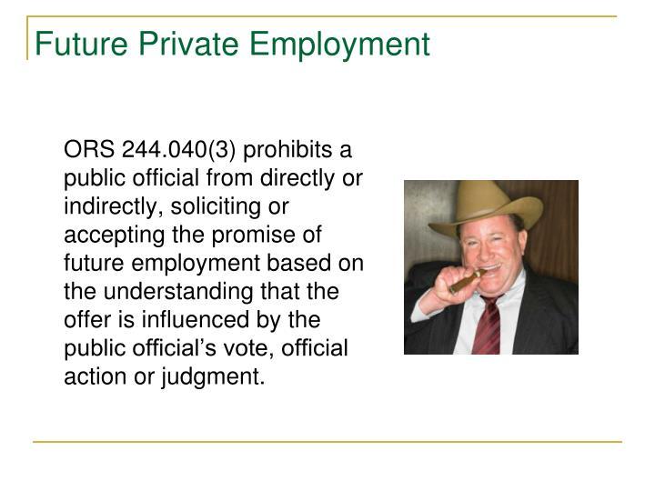 Future Private Employment
