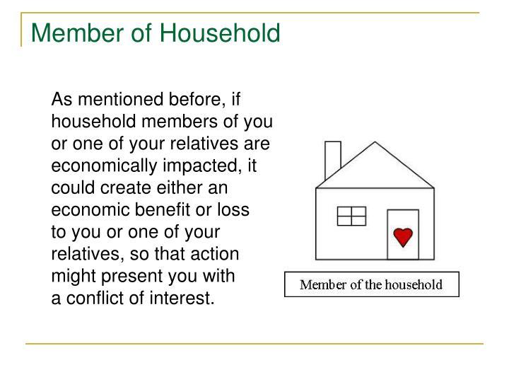 Member of Household