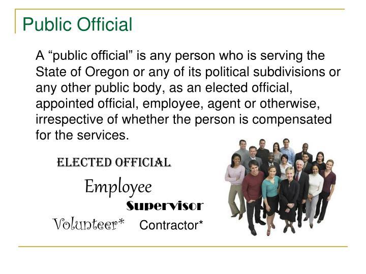 Public Official