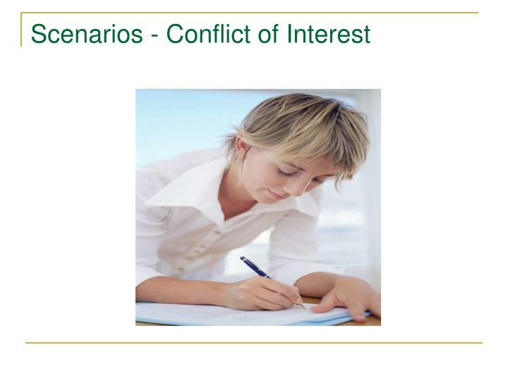 Scenarios - Conflict of Interest