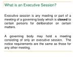 what is an executive session