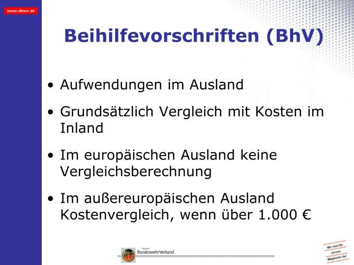 Beihilfevorschriften (BhV)