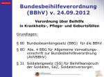 bundesbeihilfeverordnung bbhv v 24 09 2012