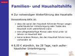 familien und haushaltshilfe