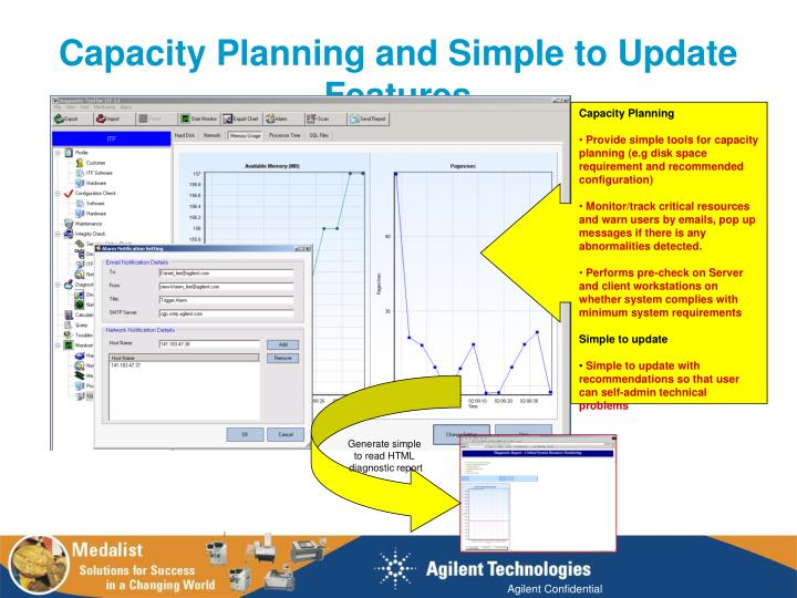 Capacity Planning and Simple to Update Features