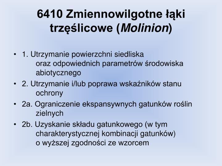 6410 Zmiennowilgotne łąki trzęślicowe (
