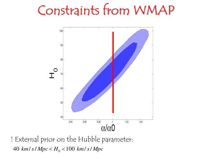 Constraints from WMAP