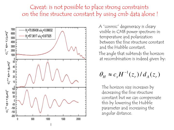 Caveat: is not possible to place strong constraints