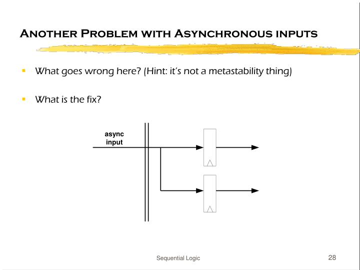 Another Problem with Asynchronous inputs