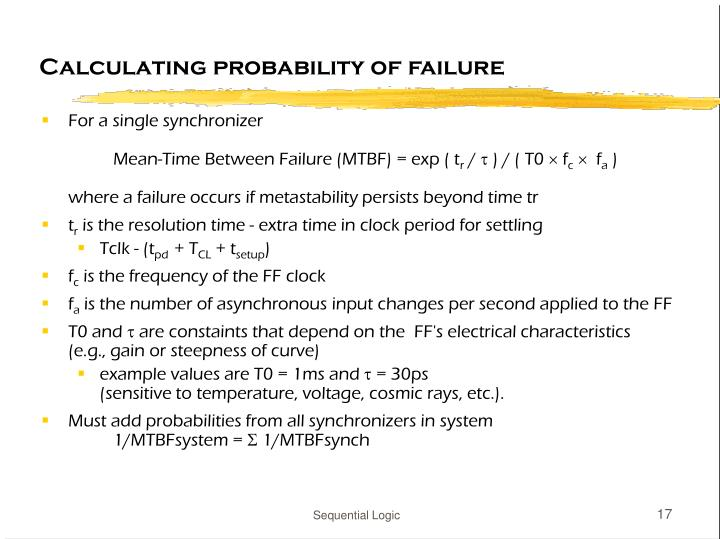 Calculating probability of failure