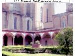 1 3 3 convento san francesco claustro