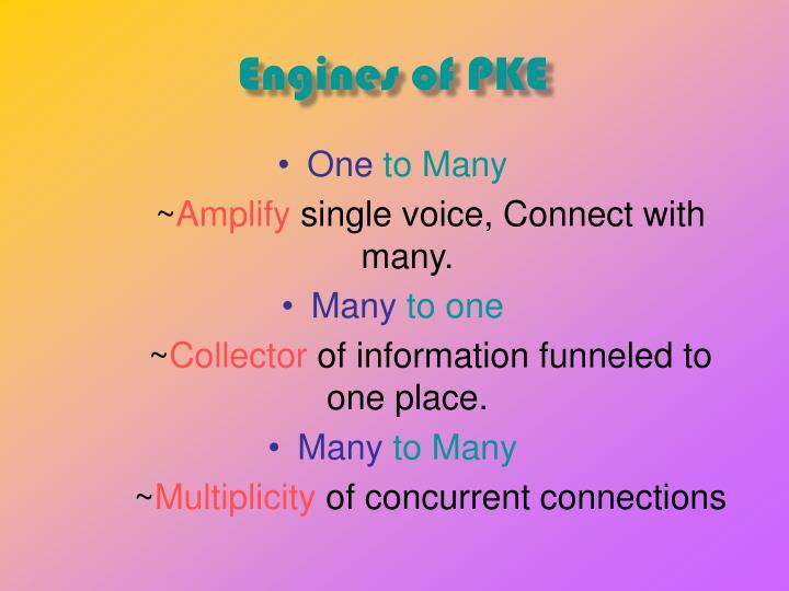 Engines of PKE