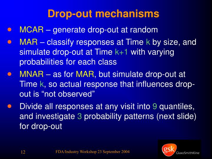 Drop-out mechanisms