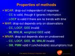 properties of methods