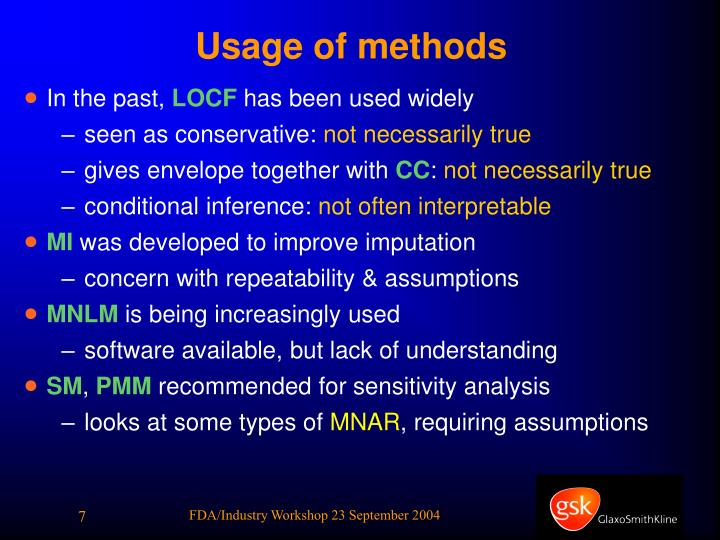 Usage of methods
