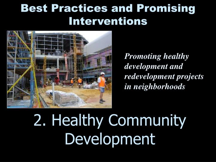 2. Healthy Community Development
