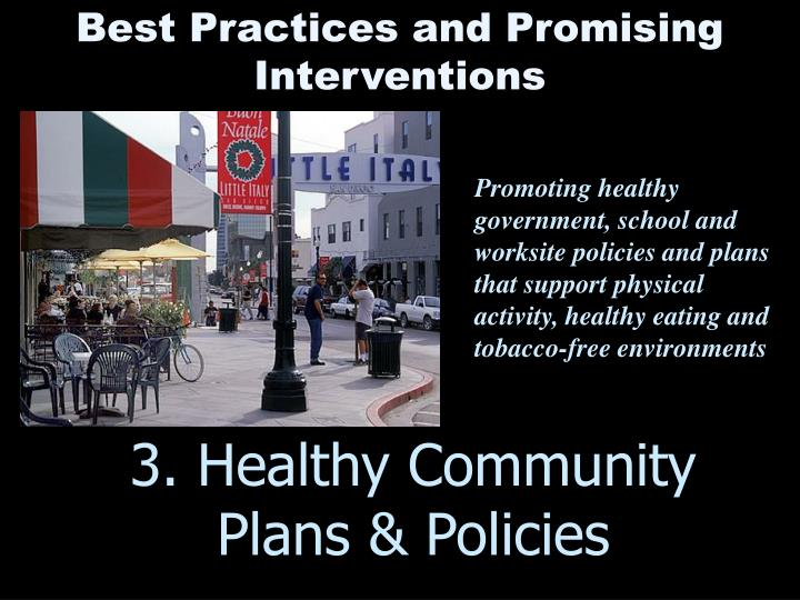 3. Healthy Community Plans & Policies