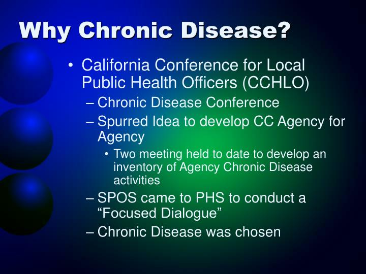 Why Chronic Disease?
