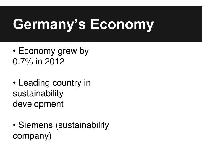 Germany's Economy