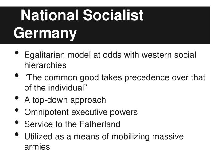 National socialist germany