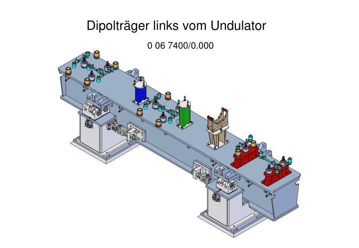 Dipolträger links vom Undulator