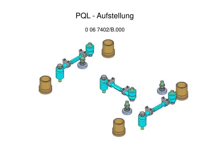 PQL - Aufstellung