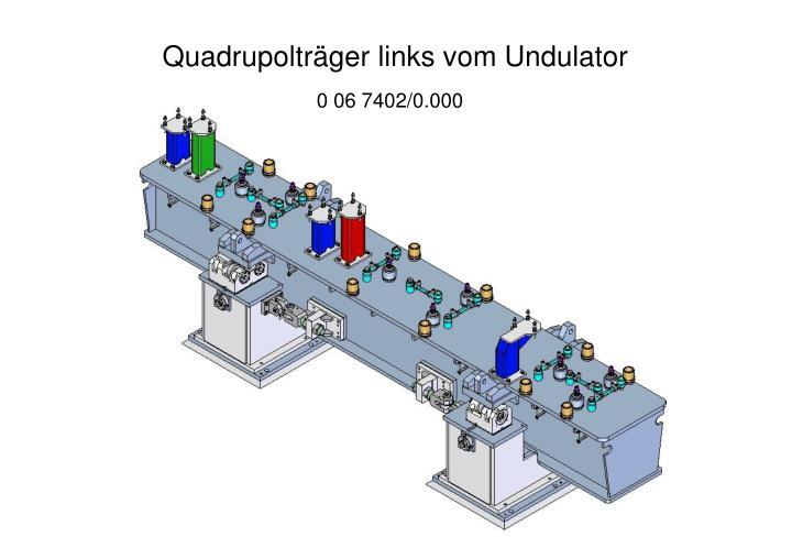 Quadrupolträger links vom Undulator