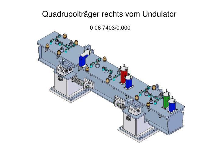 Quadrupolträger rechts vom Undulator
