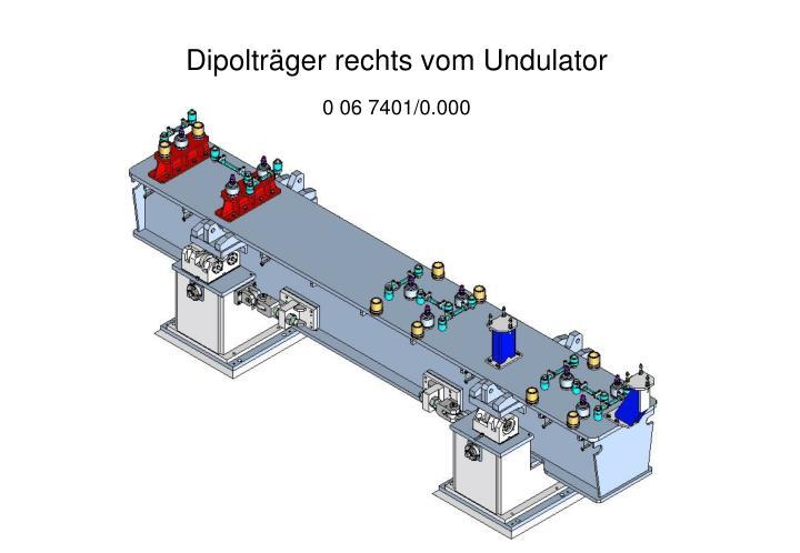 Dipolträger rechts vom Undulator