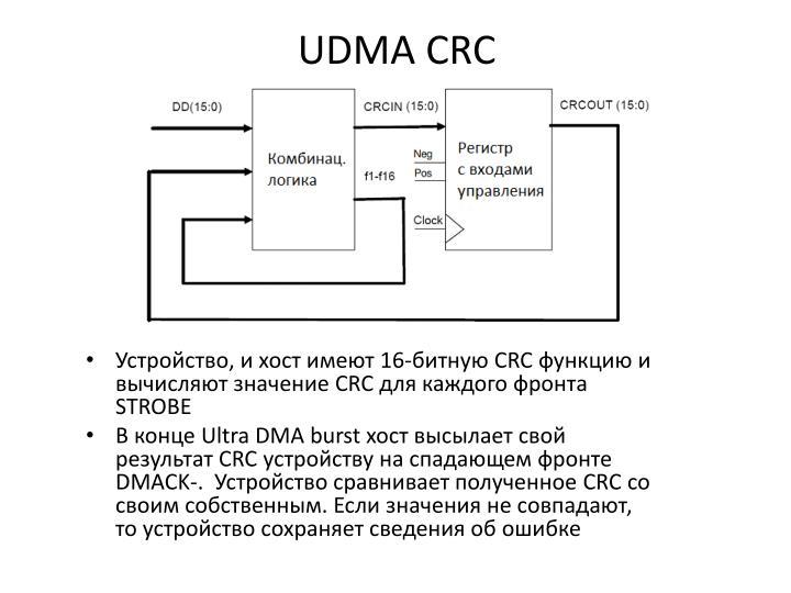 UDMA CRC