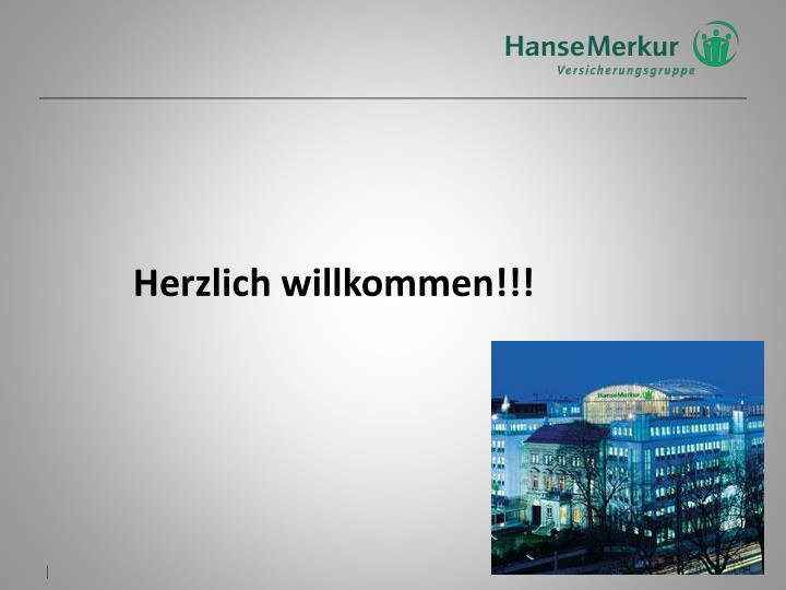 Herzlich willkommen!!!