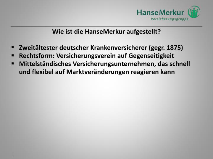 Wie ist die HanseMerkur aufgestellt?