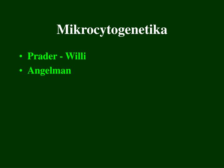 Mikrocytogenetika