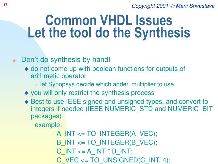 Common VHDL Issues