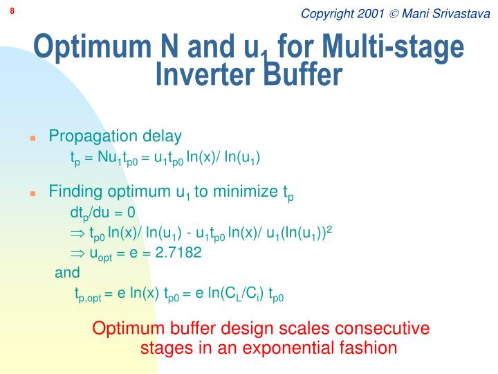 Optimum N and u
