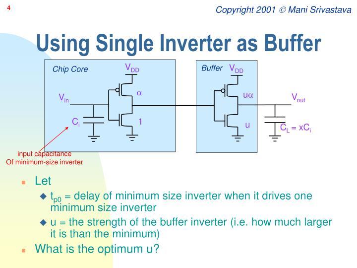 Using Single Inverter as Buffer