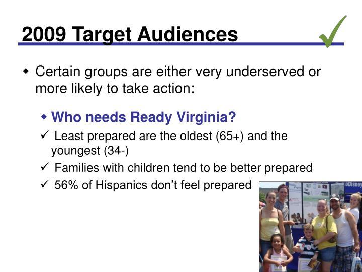 2009 Target Audiences