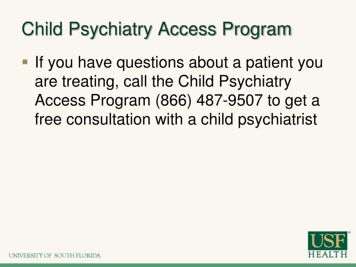 Child Psychiatry Access Program