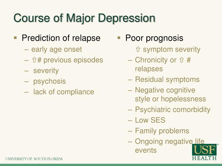 Course of Major Depression