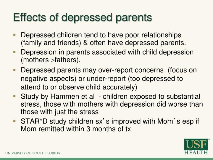 Effects of depressed parents