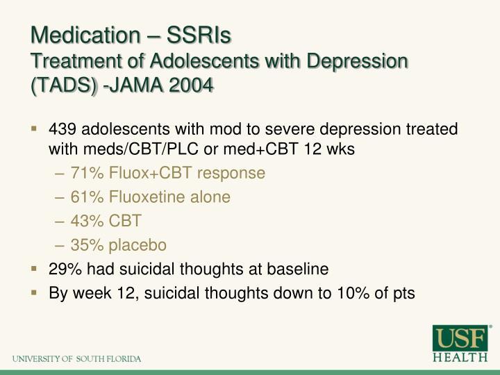 Medication – SSRIs