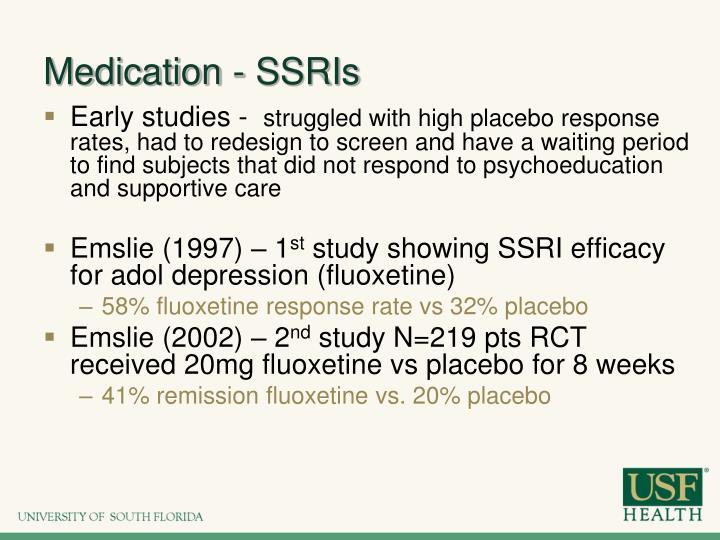 Medication - SSRIs