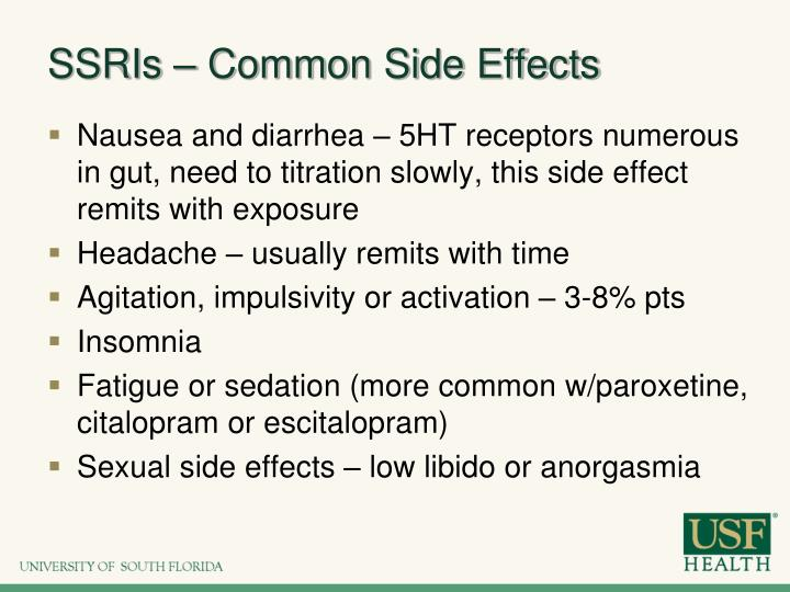 SSRIs – Common Side Effects