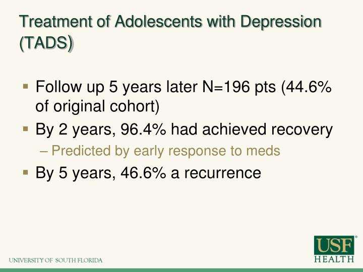 Treatment of Adolescents with Depression (TADS