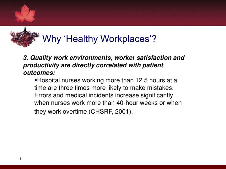 Why 'Healthy Workplaces'?